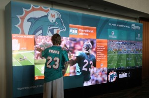 Wall interactivo de los Miami Dolphins con Christie (Foto: Christie Digital Systems / Arsenal Media)