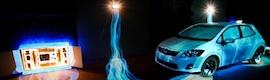 Increíbles efectos de videomapping en la presentación del nuevo Toyota