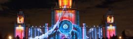 La ciudad de Moscú fue testigo de la mayor proyección realizada en todo el mundo sobre un edificio