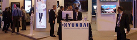 Hyundai presented at ISE 2012 a large number of digital signage solutions for indoor and outdoor