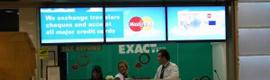 Las oficinas de Maccorp Exact Change en el aeropuerto de Barajas estrenan red de digital signage
