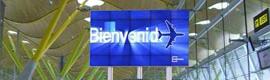 Telefónica activa los aeropuertos españoles con una red de digital signage