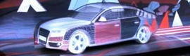 Russian Atomic Agency transforms an Audi A7 into a work of art by 3D mapping