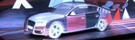 La agencia rusa Atomic transforma un Audi A7 en una obra de arte mediante el mapping 3D