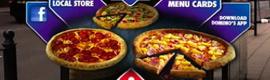 Domino´s Pizza propone encargar la comida desde vallas publicitarias con realidad aumentada