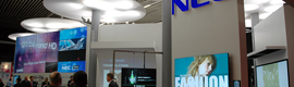 NEC at ISE 2012 offers its latest AV solutions and digital signage