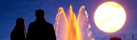 "Un ""falso sol"" ilumina la plaza Trafalgar de Londres"