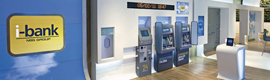 The i-bank of NBG uses digital displays to create a unique experience for your customers