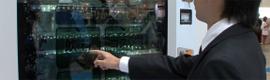 Crean en Japón una máquina expendedora 2.0 con reconocimiento facial a través de una pantalla Full HD