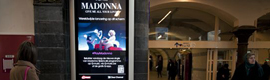Clear Channel premiered the new video of Madonna's extensive digital signage network