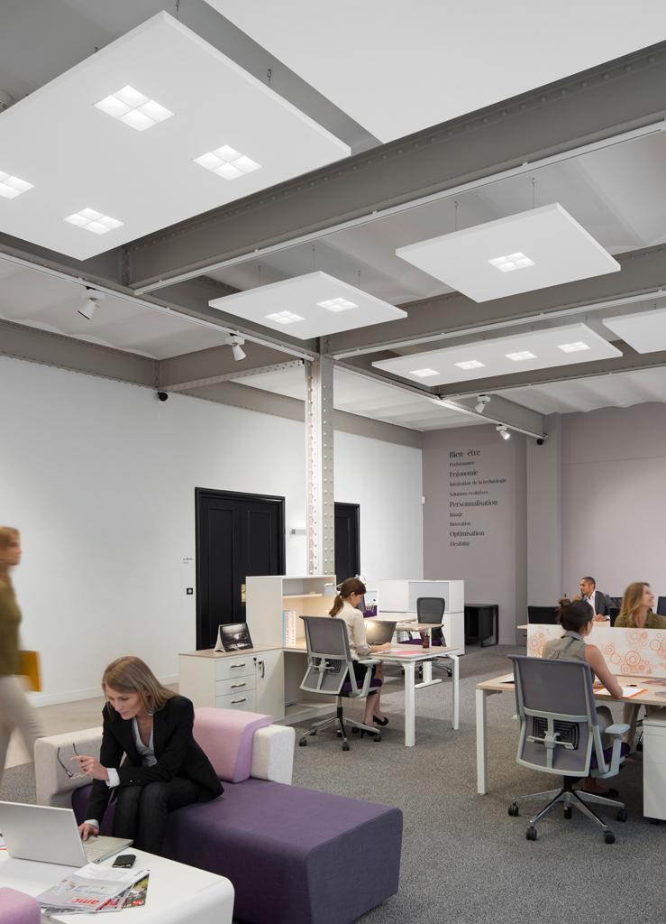 Philips y ecophon crean una soluci n de iluminaci n y for Iluminacion led oficinas