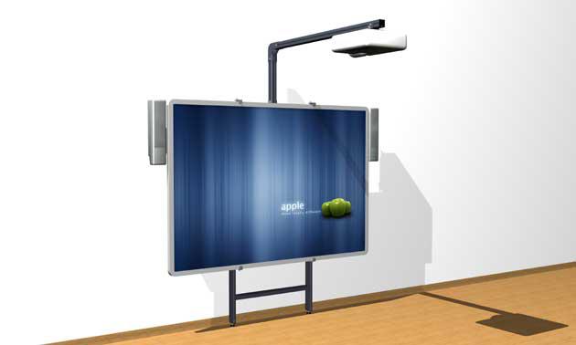 Aplei presenta nuevos soportes regulables para pizarra y - Soporte pared proyector ...