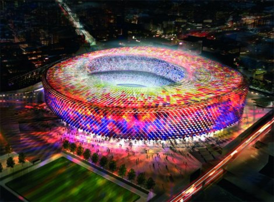 According to advance EFE, FC Barcelona building a new stadium with a ...