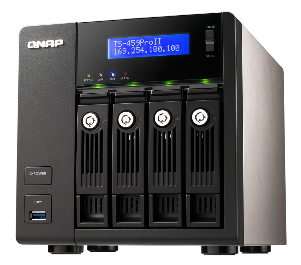 QNAP supports high capacity of 4 TB and 3 5-inch Hitachi