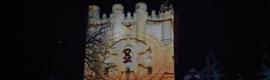 A video mapping in the Alcazar of Segovia commemorates the 150th anniversary of the fire of 1862