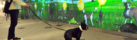 The New York subway is transformed into an interactive dog park