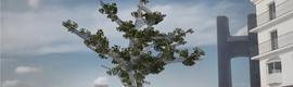 El árbol empático, una obra de arte con vida donde lo tecnológico se funde con lo natural