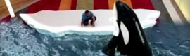 La magia de la realidad aumentada permite interactuar con la fauna polar