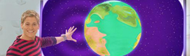 Discovery Kids invita a los niños a explorar un mundo animado mediante una pantalla interactiva