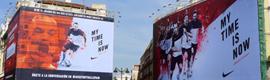 Nike combina digital signage y redes sociales para mostrar qué jugador español de la Euro es el más popular