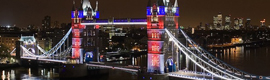 The bridge from the Tower of London will illuminate with LED on the occasion of the Olympic Games