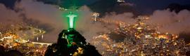 Siemens ilumina de verde el Cristo del Corcovado en Río de Janeiro