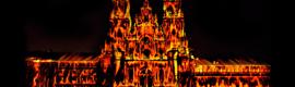 """La fachada de la Catedral de Santiago """"arde"""" virtualmente en las fiestas del Apóstol"""