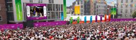 22 pantallas urbanas gigantes retransmitirán los Juegos de Londres 2012 a toda Gran Bretaña