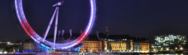 The London Eye will light up according to the messages from Twitter on the London 2012 Games