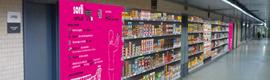 Sorli Discau instala un supermercado virtual en la estación de Sarrià de Barcelona
