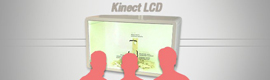 Join Kinect and a screen LCD transparent to offer reality augmented there where is look
