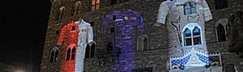 El Palazzo Vecchio de Florencia y el David de Miguel Ángel se vistieron de viola