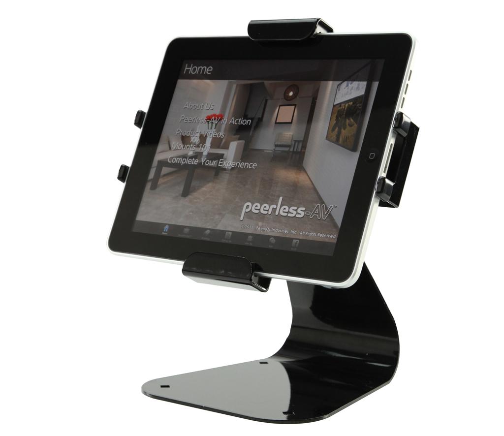 Peerless av lanza dos nuevos soportes para dispositivos tablet for Soporte tablet pared