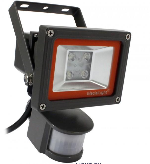 Glaciallight gl fl12s eficiente foco led con sensor - Sensor de movimiento con luz ...