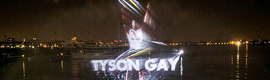 Gillette makes a spectacle of light and water to support the U.S. Olympic team