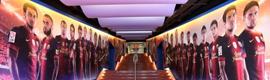 El Barça estrena iluminación en el túnel de vestuarios del Nou Camp