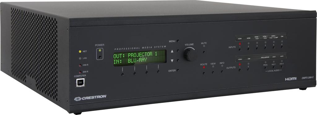 Crestron amplía su familia DMPS con los nuevos modelos 200-C