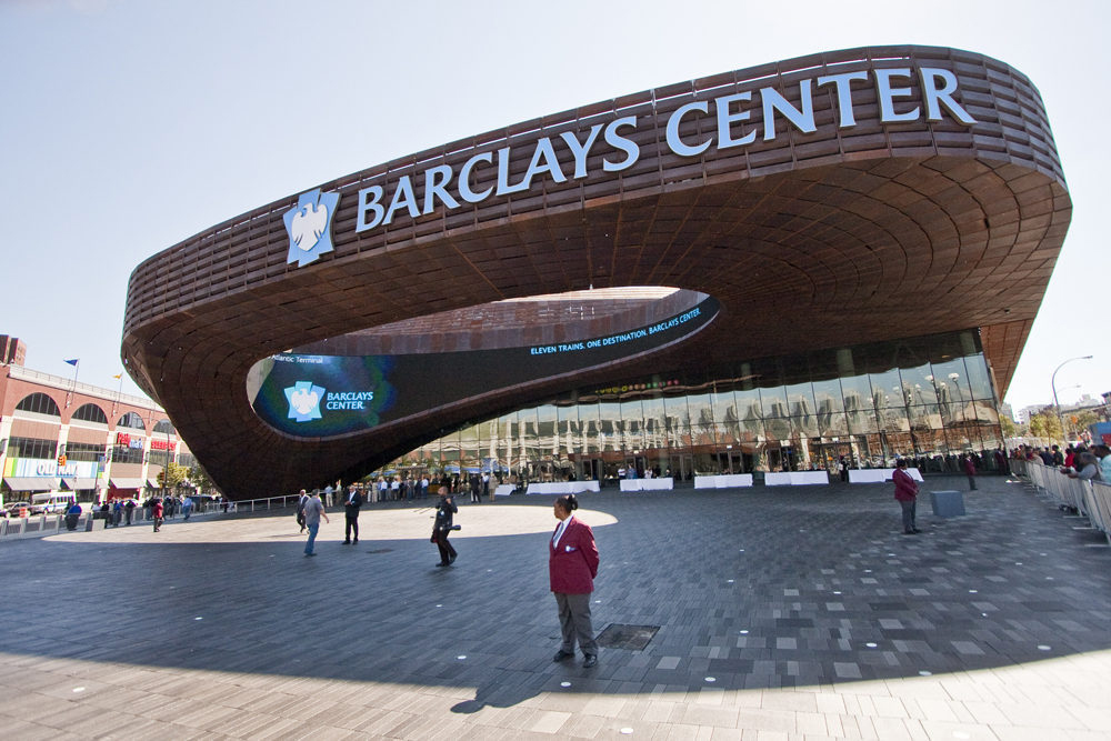 The new barclays center arena is dota from a network of for The barclay