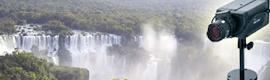 Una cámara AirLive POE-5010HD ofrece imágenes en alta definición de las cataratas del Iguazú