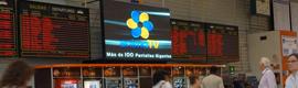 La Estación Sur de autobuses de Madrid estrena pantalla gigante