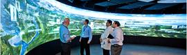 El nuevo Centro de Innovación de GE instala un enorme video wall de 17,5 metros con tecnología LPD de Prysm
