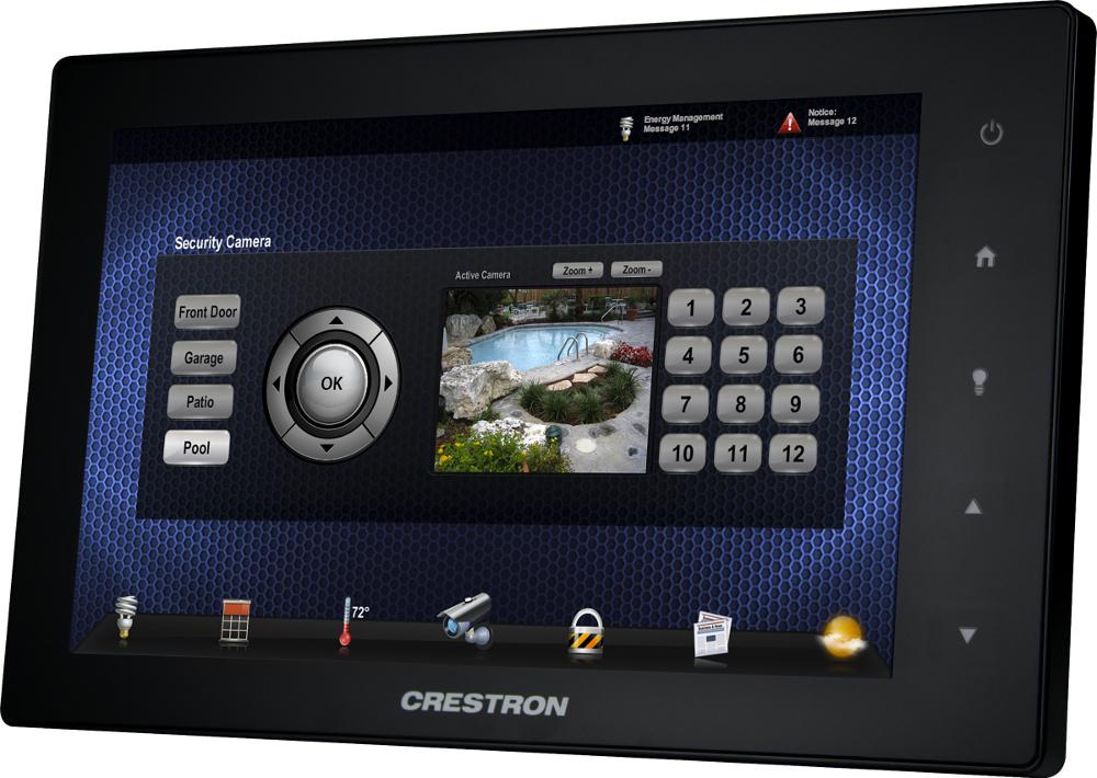 crestron cr e une nouvelle gamme d crans de tablette tactile style. Black Bedroom Furniture Sets. Home Design Ideas
