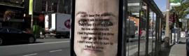 Mensajes que desaparecen a la luz del sol para alentar la ayuda a las víctimas de violación y abuso sexual
