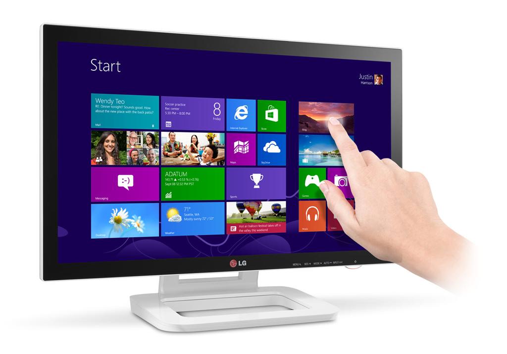 lg presenta su monitor touch 10 desarrollado para windows 8. Black Bedroom Furniture Sets. Home Design Ideas