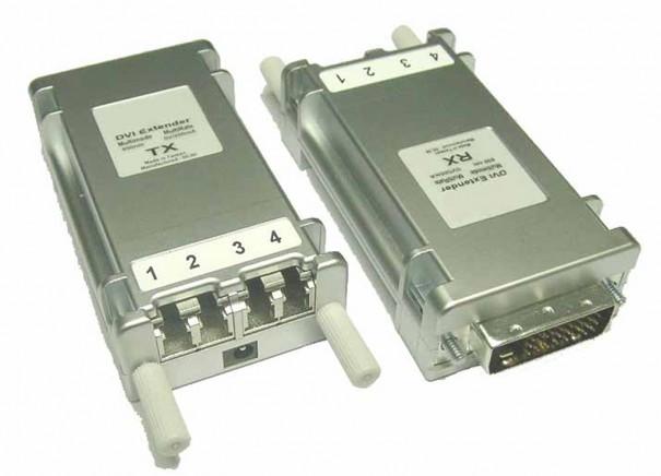 C3 conversores-extensores DVI para fibra optica