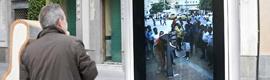 Cádiz y Cartagena de Indias, unidas en tiempo real por una pantalla interactiva
