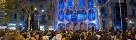Christie y BAF encandilaron a Barcelona con un mapping en la Casa Batlló