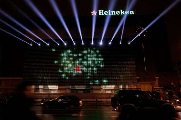 Heineken botellas LED