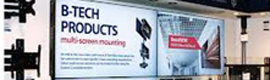 B-Tech focus their presence at ISE in signage stands and video wall