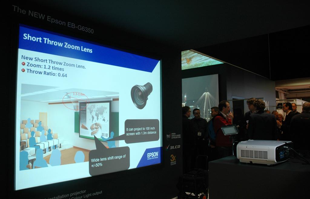 Epson muestra en ise sus ltimas innovaciones en proyecci n - Proyectores de luz ...